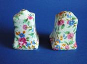 Grimwades Royal Winton 'Old Cottage Chintz' Salt and Pepper Pots c1940